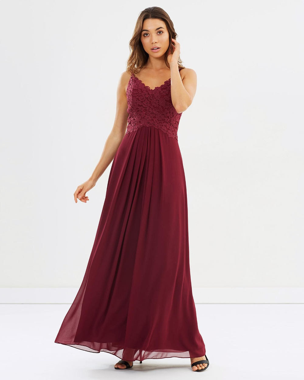 Alabaster The Label New Romantic Dress Bridesmaid Dresses Merlot Red New Romantic Dress