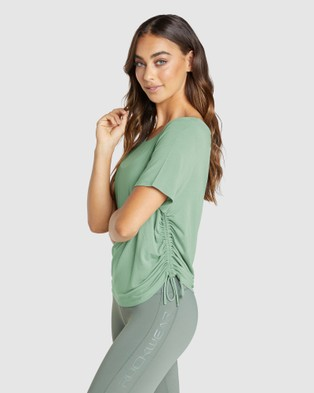 Rockwear Topia Ruched Side Tee - T-Shirts & Singlets (THYME)