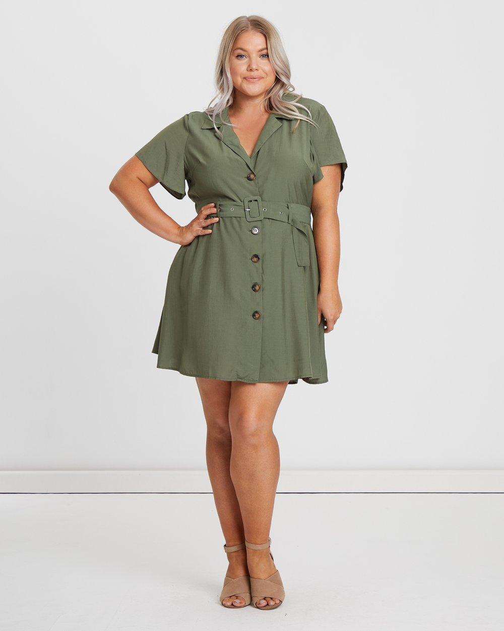 95c47e76ccf Safari Shirt Dress by Atmos Here Curvy Online