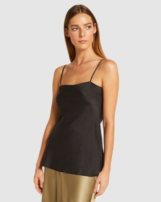 GINIA RTW Silk Avery Cami - Tops (Black)