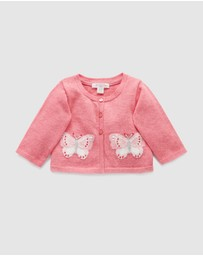 Purebaby - Butterfly Cardigan - Babies