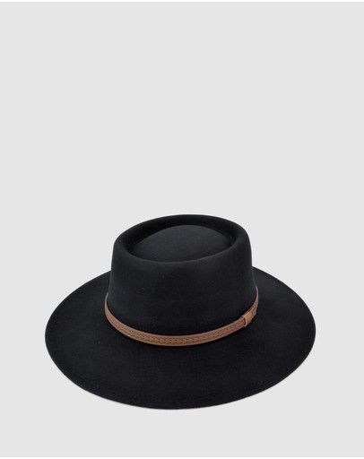 Ford Millinery Madrid Hat Black