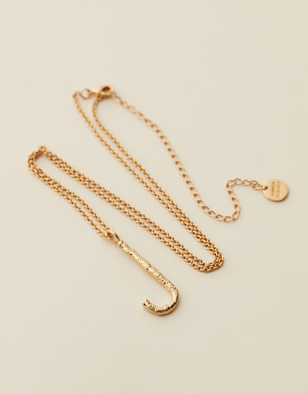 Women Grande Letter Necklace - J