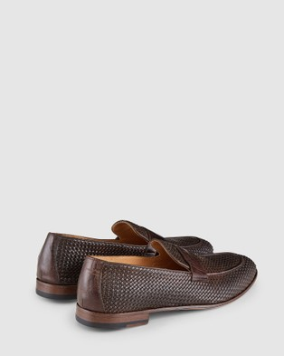 Aquila - Damiano Penny Loafers Flats (Brown)