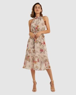 Forcast Iris Floral Dress - Dresses (Pink Salt)