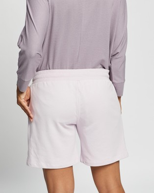Angel Maternity Maternity Cotton Summer Shorts - Sleepwear & Loungewear (Lilac)