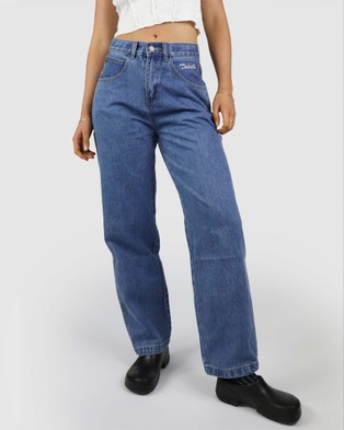 Dakota501 Smiley Wide Leg Jeans - Relaxed Jeans (Blue)