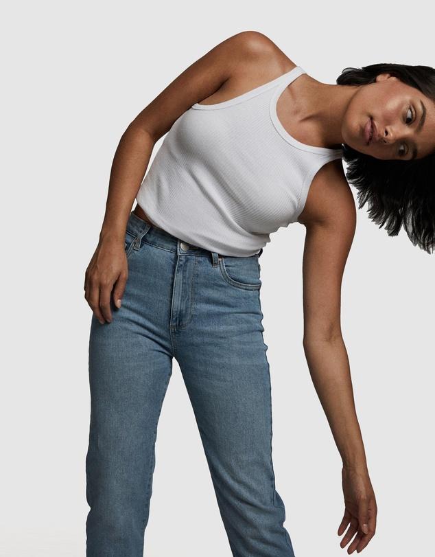 Women Petite Stretch Mom Jeans