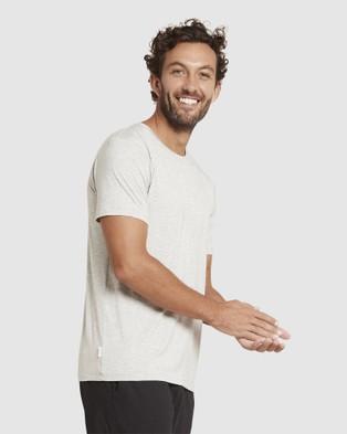 Boody Organic Bamboo Eco Wear - 2 Pack Crew Neck T Shirt - Short Sleeve T-Shirts (Light Marl) 2 Pack Crew Neck T-Shirt