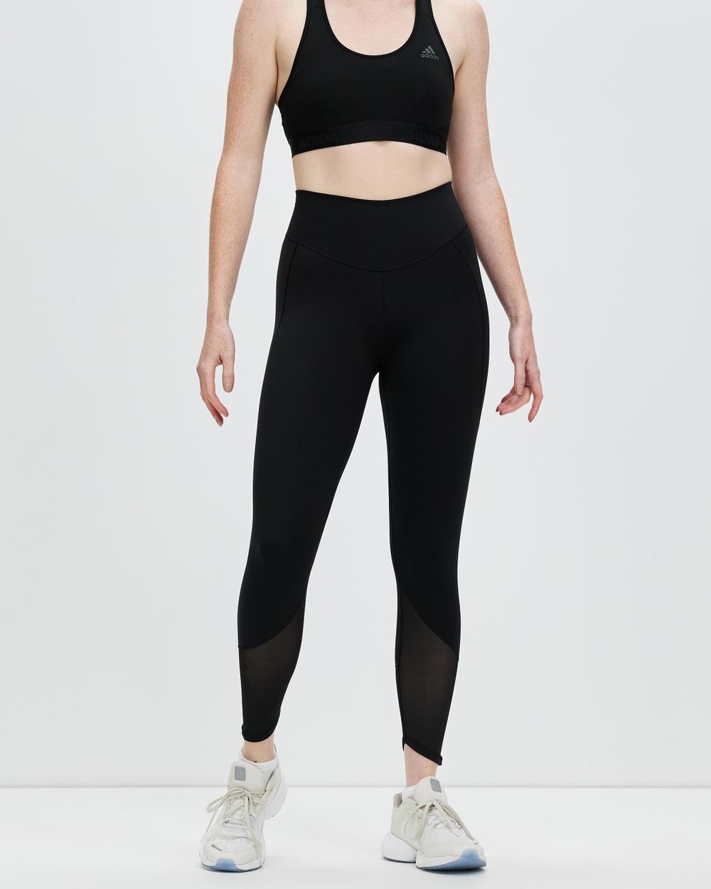 adidas Performance Yoga Power Mesh 7 8 Tights 7/8 Black 7-8