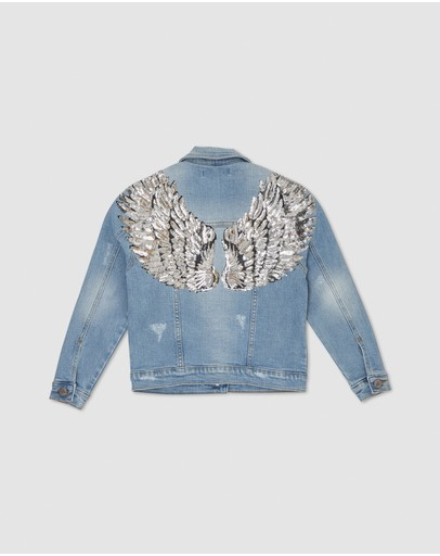 Gelati Jeans - Bobbi Silver Wings Denim Jacket