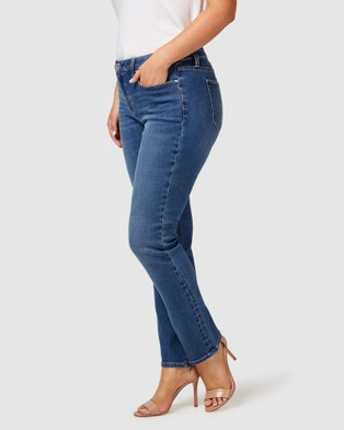 Jeanswest Curve Embracer Slim Straight Jeans Lake Blue - Jeans (Lake Blue)