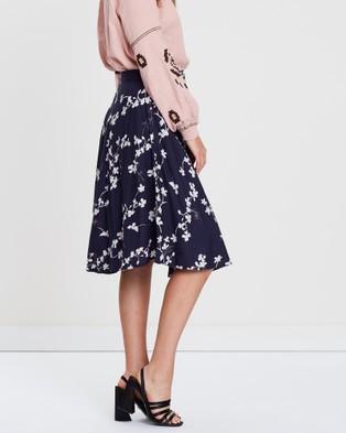 KAJA Clothing Joan Skirt - Skirts (Navy Print)