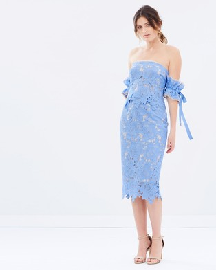Rebecca Vallance – Bianca Off the Shoulder Dress – Dresses (Sky)