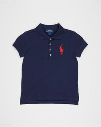 Polo Ralph Lauren - Big Polo Player Knit Stretch Mesh Polo - Kids