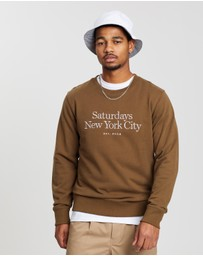 Saturdays NYC - Bowery Miller Standard Embroidered Crew Sweater
