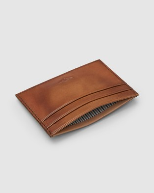 Aquila Archie Card Holder - Wallets (Cognac)