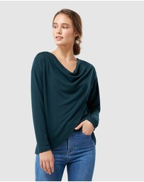 Forever New - Heather Cowl Neck Cut and Sew