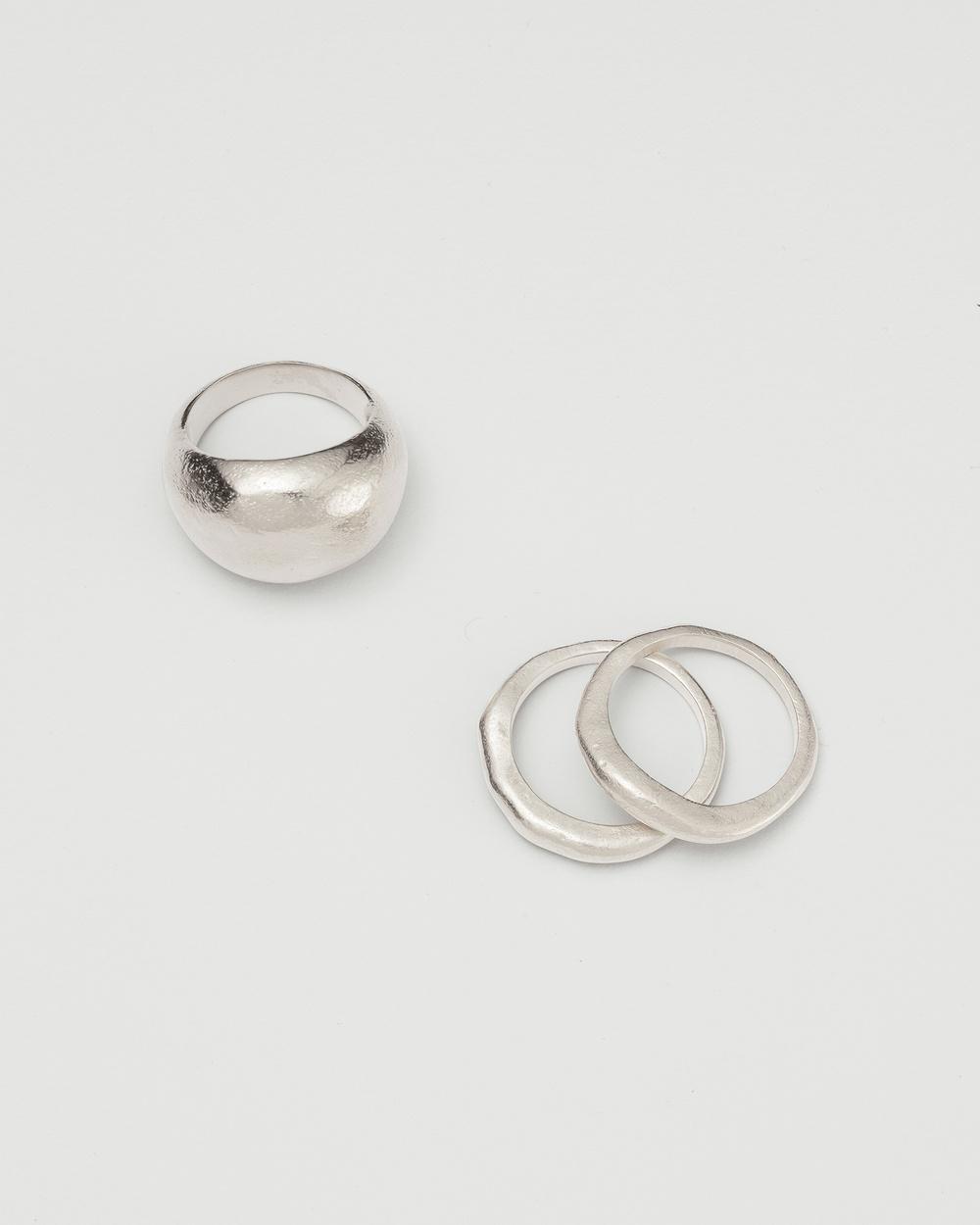 Kirstin Ash Golden Light Ring Layers Jewellery Silver