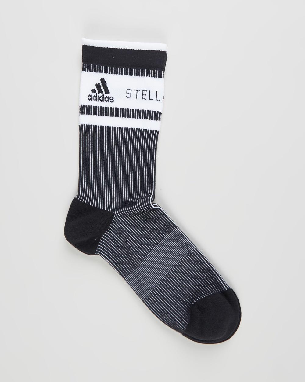adidas by Stella McCartney ASMC Crew Socks Black, Black & White