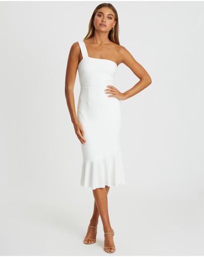 Chancery Ryder Midi Dress White