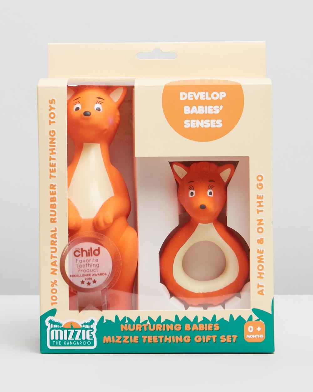 Mizzie The Kangaroo Nurturing Babies Teething Gift Set All toys Nurturing GS Australia
