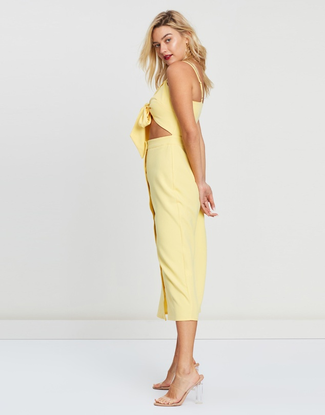 f497b4c5 Tie Front Button Down Strappy Midi Dress by Missguided Online | THE ICONIC  | Australia