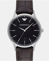 Emporio Armani - Dark Brown Analogue Watch