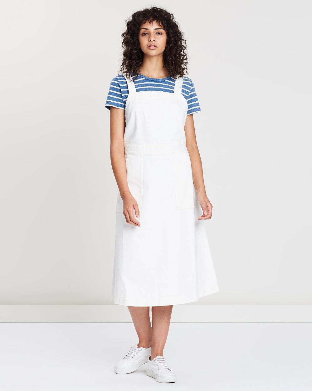 Polo Ralph Lauren White Denim Apron Sleeveless Dress