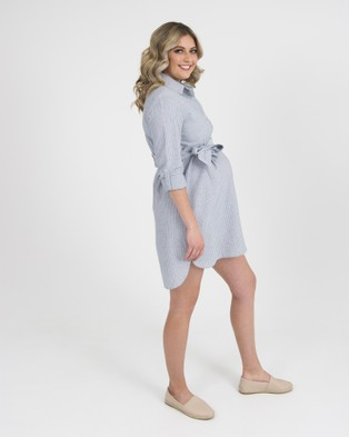 Kate Douglas Designs Amy Linen Dress - Dresses (Blue)