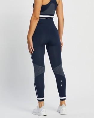 The Upside Bianca Seamless Midi Pants - 7/8 Tights (Navy)