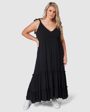 Indigo Tonic - Gina Tiered Maxi Dress - Dresses (Black) Gina Tiered Maxi Dress