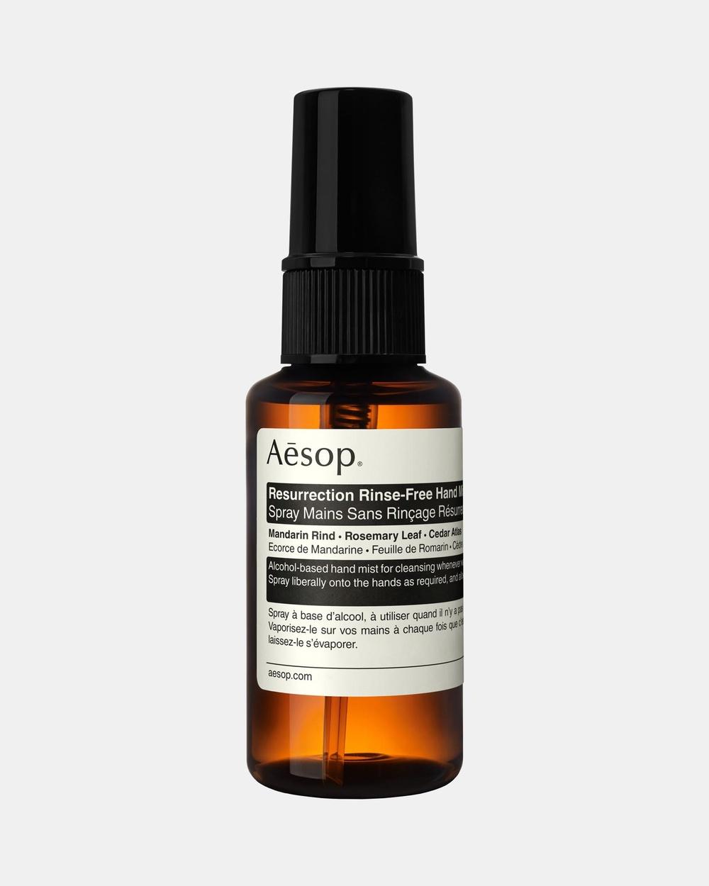 Aesop Resurrection Rinse Free Hand Mist 50mL Beauty 50mL Rinse-Free