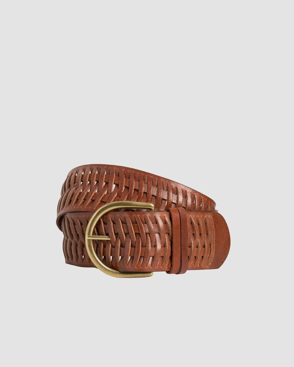 Loop Leather Co Matilda Belts Dark Tan