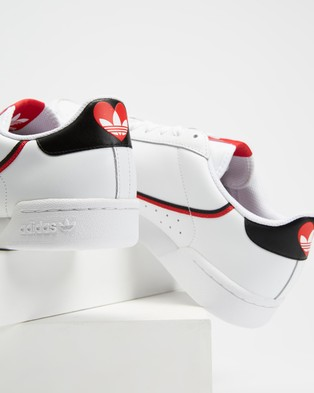 adidas Originals Continental 80   Unisex - Lifestyle Sneakers (White & Red)