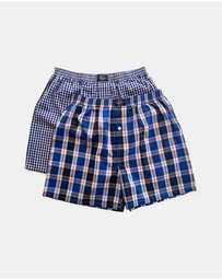 Coast Clothing - Blue Boxer Shorts 2-Pack