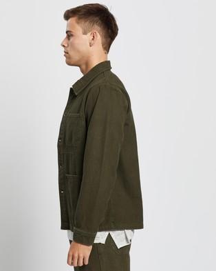 AERE - Organic Twill Chore Jacket - Coats & Jackets (Khaki) Organic Twill Chore Jacket
