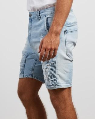 Nena & Pasadena Destroyer Shorts - Denim (Mexican Blue)