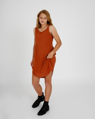 Hendrik Clothing Company The Slip Dress - Dresses (Orange)