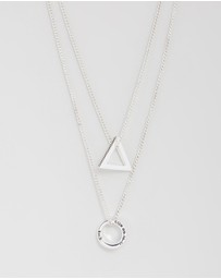 Hoop & Triangle Necklace Set