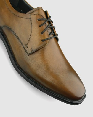 Airflex Duke Leather Derby Dress Shoes - Dress Shoes (Tan)
