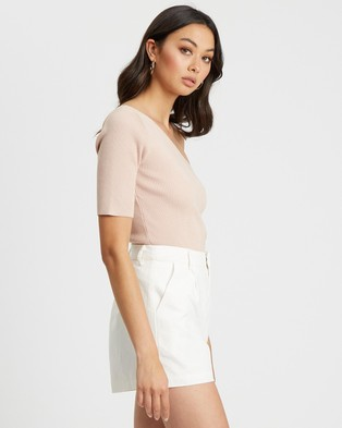Calli Dani Knit Top Tops Pale Pink