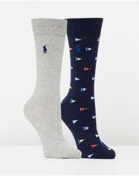 Polo Ralph Lauren - 2-Pack Flags Socks