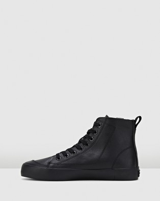 Volley Deuce Leather High - High Top Sneakers (Black Leather)