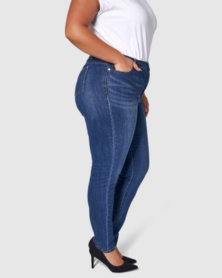 Something 4 Olivia Rachel Push Up Jeans - High-Waisted (Navy)
