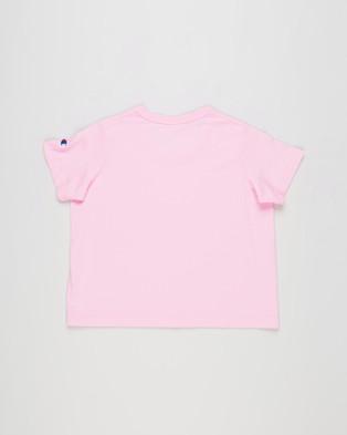 Champion - Script Boxy Tee Teens T-Shirts & Singlets (Cotton Gumball Pink)
