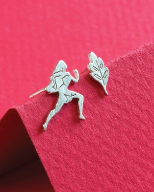 Short Story Disney Earring Pocahontas & Leaf - Jewellery (Silver)