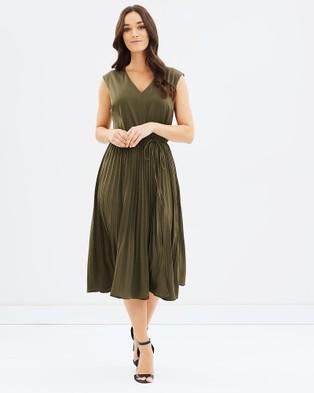 Sportscraft – Rhea Pleat Dress green