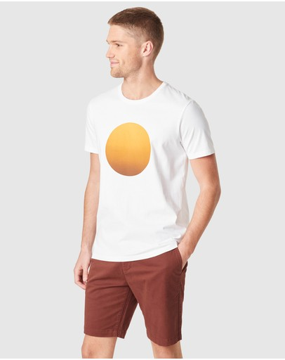 French Connection Sunrise T Shirt White