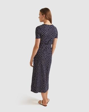 Sportscraft Opal Cotton Modal Dress - Printed Dresses (Navy & Multi )